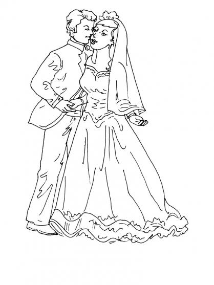 Coloriage Mariage 8