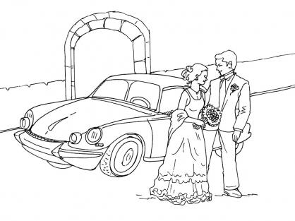Coloriage Mariage 9