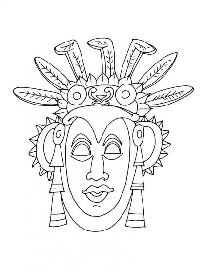 Coloriage Masque 11