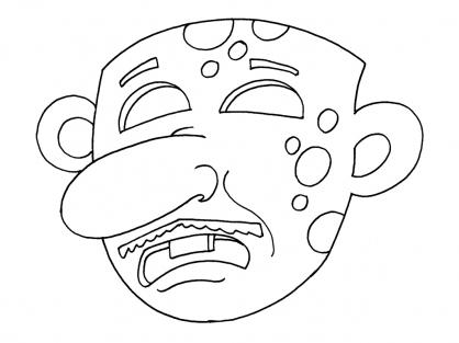Coloriage Masque 16