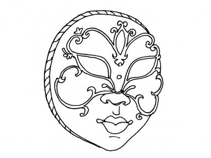 Coloriage Masque 2