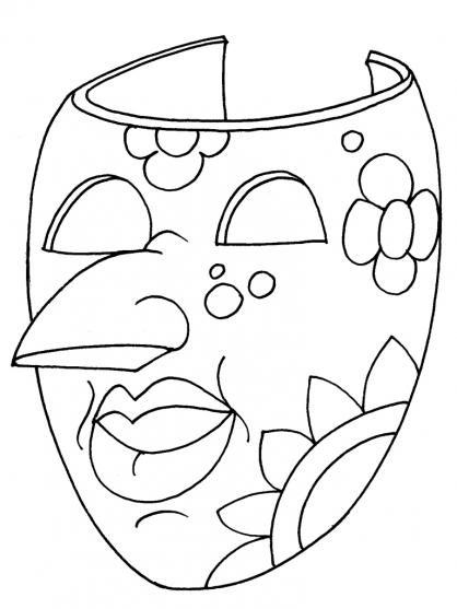 Coloriage Masque 20