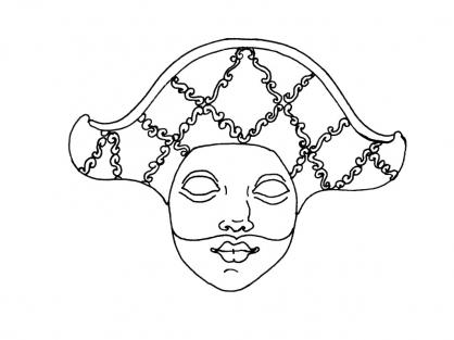 Coloriage Masque 7