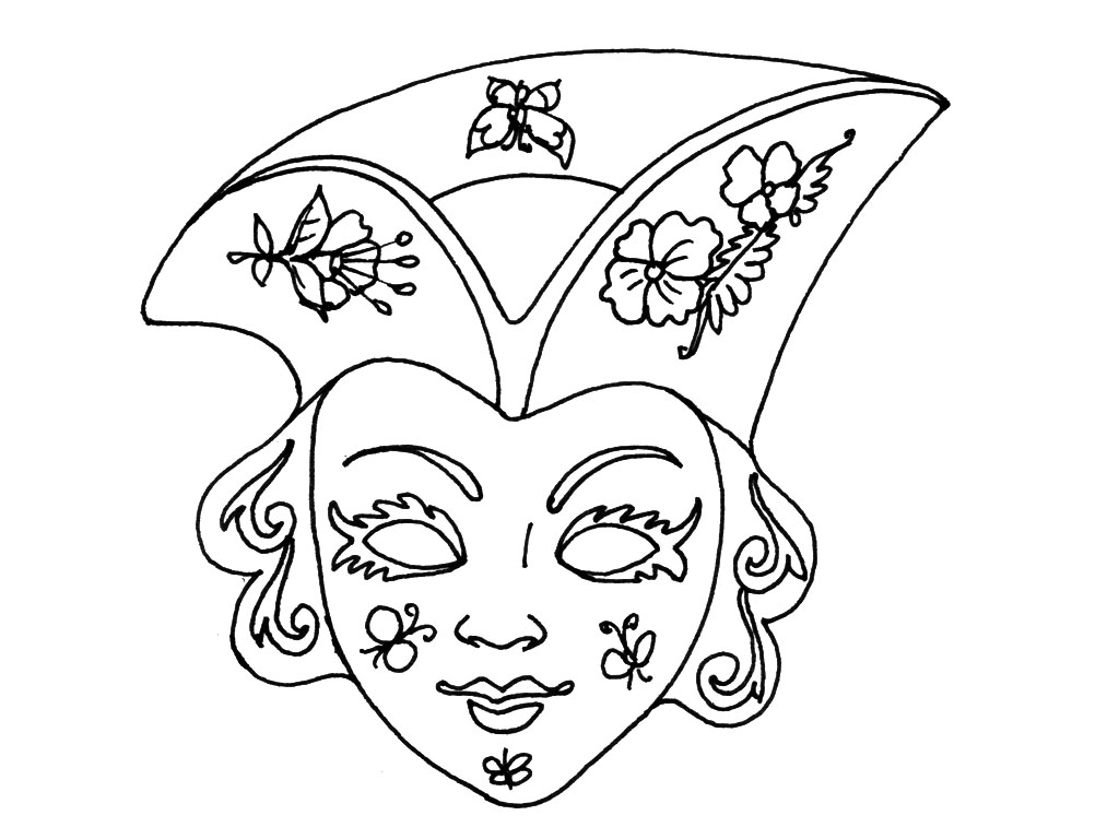 Dessin masque de venise a colorier car interior design - Coloriage masque ...
