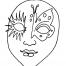 Coloriage Masque 9