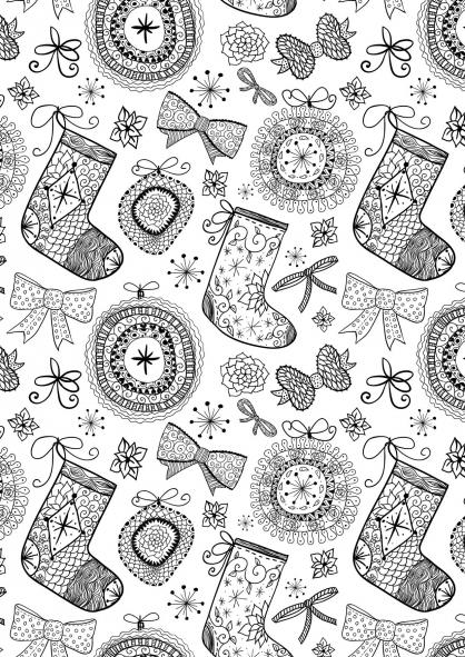 Coloriage Noël : de jolies décorations pour ta maison