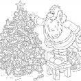 Coloriage Noël : l'étoile du sapin