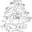 Coloriage Noël : la couronne de Noël