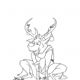 Coloriage Noël: la gymnastique des rennes