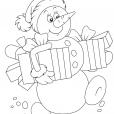 Coloriage Noël : le bonhomme de neige