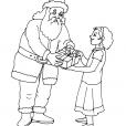 Coloriage Noël : le cadeau du Père Noël