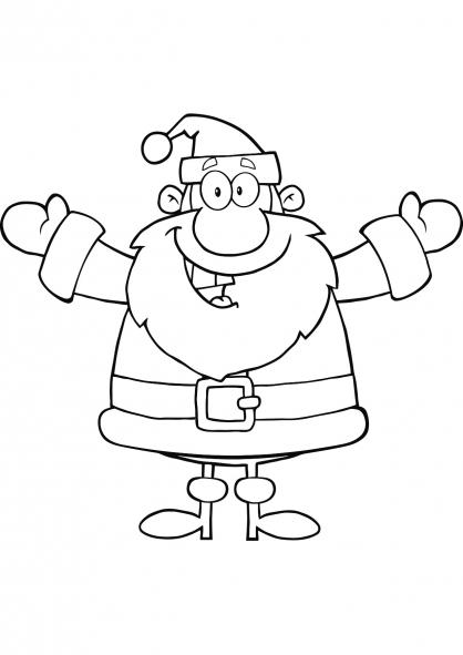 Coloriage Noël : le Père Noël