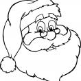 Coloriage Noël : le portait du Père Noël