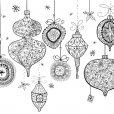 Coloriage Noël : les décorations de Noël