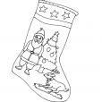 Coloriage Noël : une chaussette de Noël