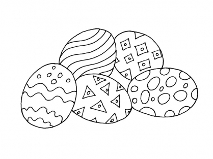 Coloriage Pâques 5