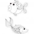 Coloriage Poisson d'avril : poissons à colorier (1)