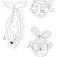 Coloriage Poisson d'avril : poissons à colorier (2)