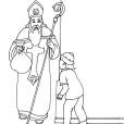 Coloriage Saint-Nicolas 9