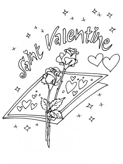 Coloriage Saint-Valentin 12