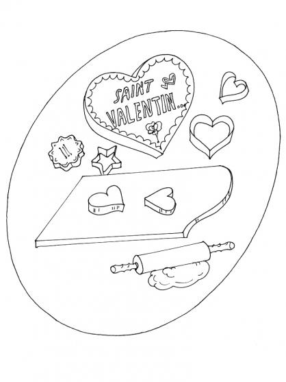 Coloriage Saint-Valentin 13