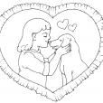 Coloriage Saint-Valentin 3
