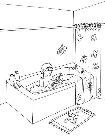 coloriage bain 1 coloriage bain coloriage maison. Black Bedroom Furniture Sets. Home Design Ideas