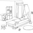Coloriage Chambre 13
