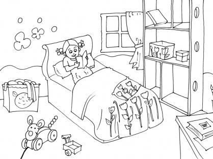 coloriage chambre 16 coloriage chambre coloriage maison. Black Bedroom Furniture Sets. Home Design Ideas
