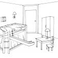Coloriage Chambre 2