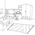 Coloriage Chambre 3