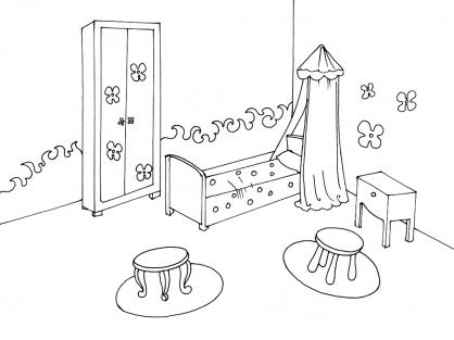 Coloriage Chambre 5