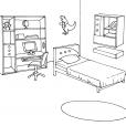 Coloriage Chambre 6