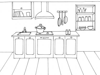 Coloriage Cuisine 9