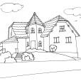 Coloriage Maison 1