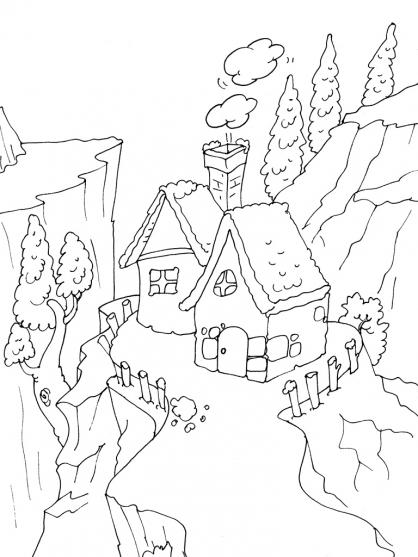 Coloriage Maison 27