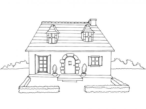 Coloriage maison 3 imprim sur gulli for Image maison dessin