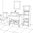Coloriage Toilette 1