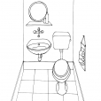 Coloriage Toilette 11