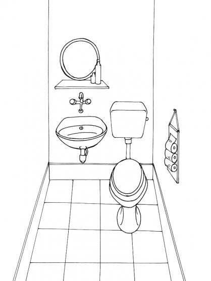Coloriage Toilette 11