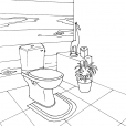 Coloriage Toilette 12