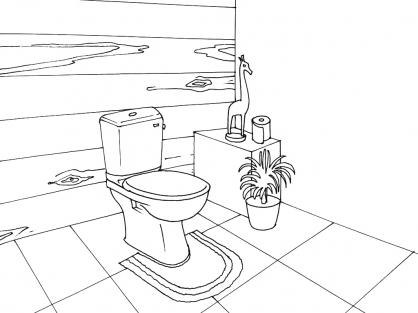 Coloriage Toilette 12