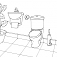 Coloriage Toilette 13