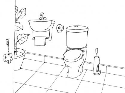Coloriage Toilette 13