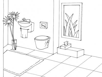 Coloriage Toilette 14