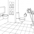 Coloriage Toilette 2