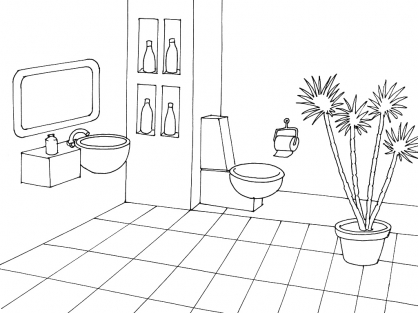 Coloriage Toilette 2