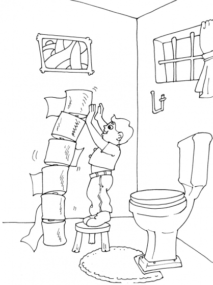 Coloriage Toilette 23