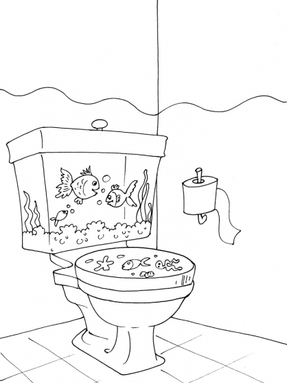 Coloriage Toilette 27