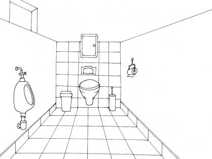 Coloriage Toilette 3